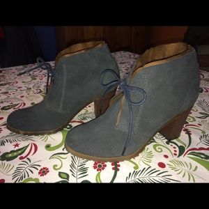 Ruff Hewn dusty blue ankle boots